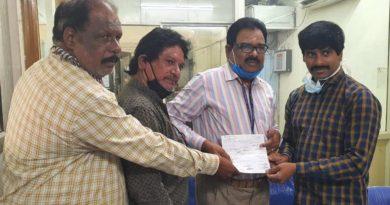 87 మంది సినిమా జర్నలిస్టులైన ఫిల్మ్ క్రిటిక్స్ అసోసియేషన్ సభ్యులకు ఐదువేలు చేయూత